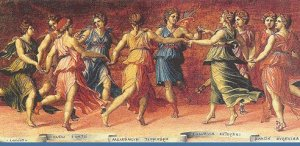 Muses Dancing with Apollo by Baldassare Tommaso Peruzzi