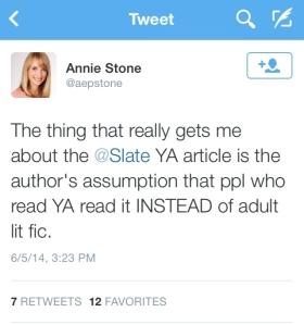 Annie Stone tweet